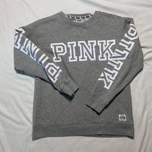 GRAY PINK SWEATSHIRT